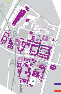 Lageplan Campusbereich A+B